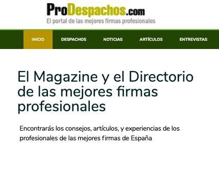 El secreto del Marketing Digital en ProDespachos: trabajar mucho y tener unos objetivos claros