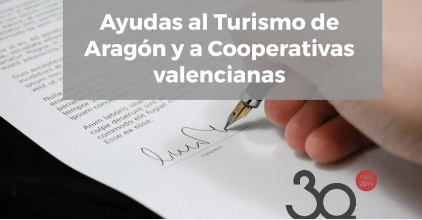 Ayudas al Turismo de Aragón y a Cooperativas valencianas