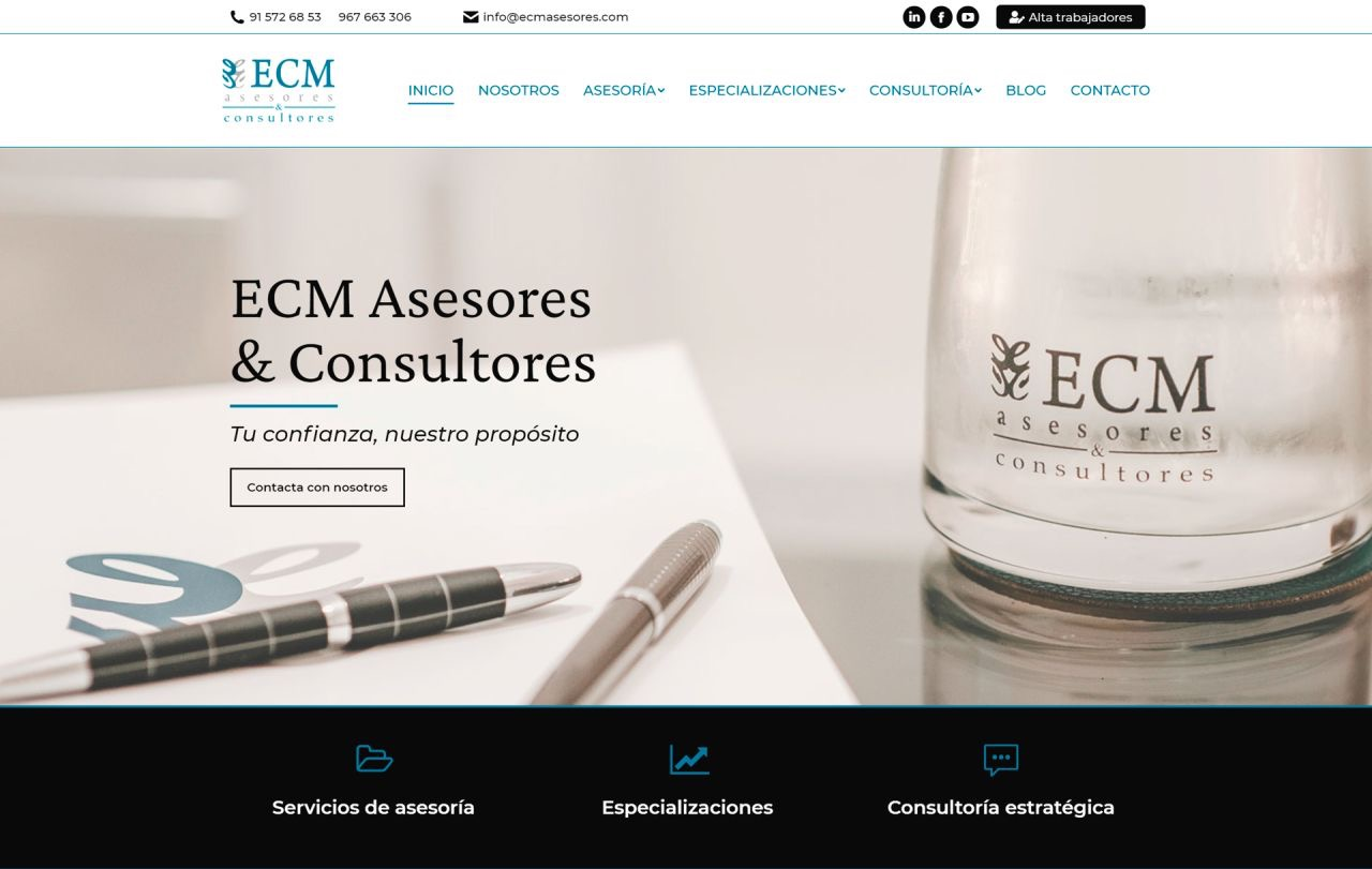 ECM Asesores & Consultores cambian su web corporativa