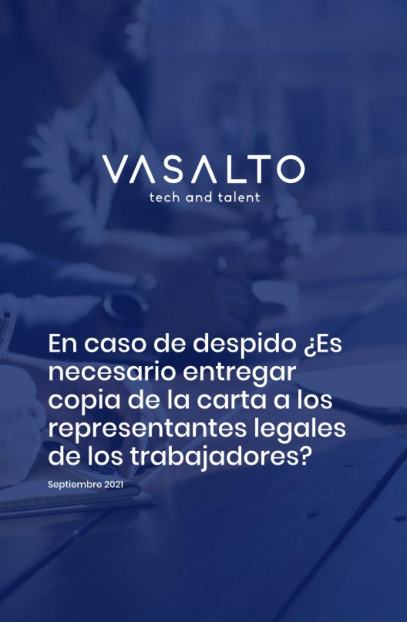 En caso de despido ¿Es necesario entregar copia de la carta a los representantes legales<br>de los trabajadores?